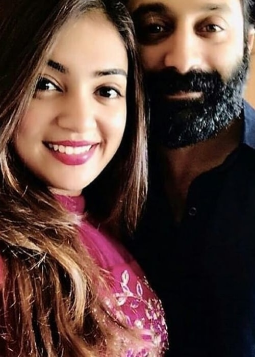Nazriya Nazim as seen in a selfie with her husband Fahadh Faasil in October 2019