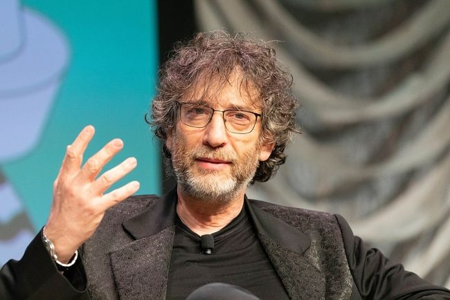 Neil Gaiman appearing at the SXSW Festival in March 2019