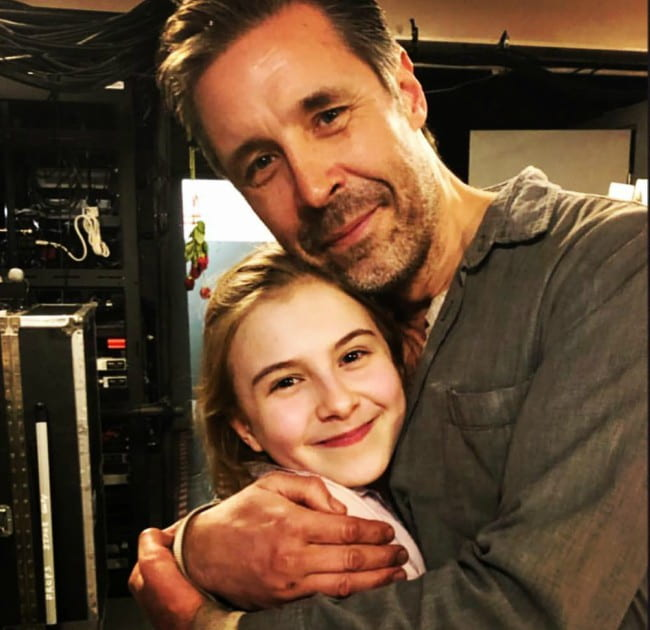 Paddy Considine and Brooklyn Shuck as seen in February 2019