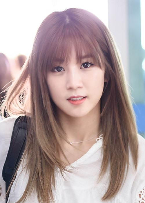 Park Cho-rong as seen at Incheon International Airport located in Incheon, South Korea in May 2015