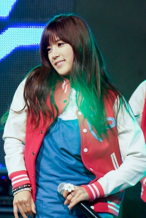 Park Cho-rong as seen while performing during an event in October 2013