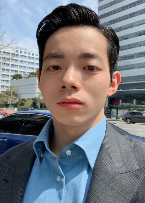 Park Min-soo in an Instagram selfie as seen in April 2019