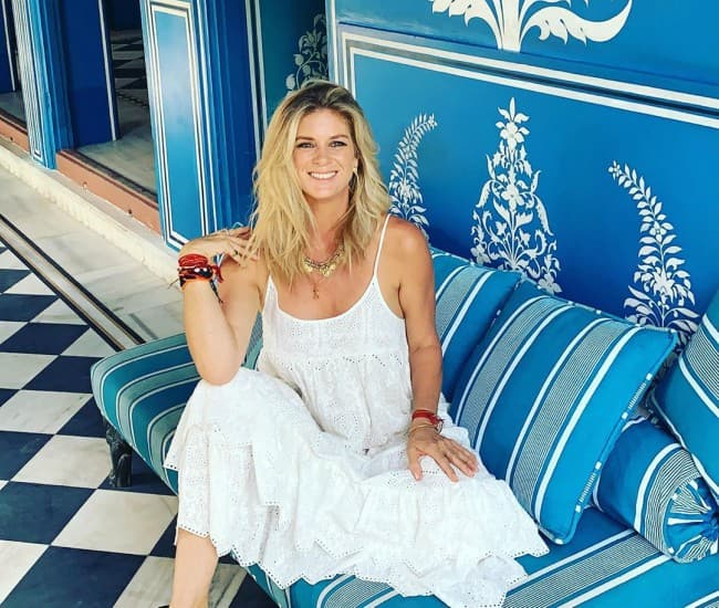 Rachel Hunter as seen in October 2019