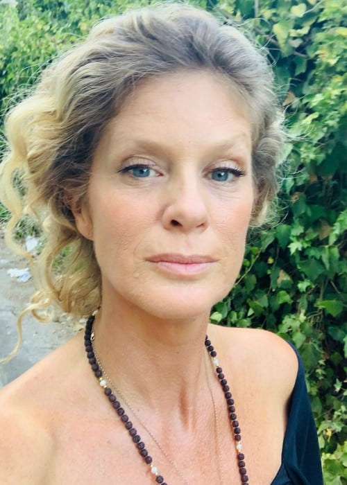 Rachel Hunter in an Instagram selfie as seen in September 2019