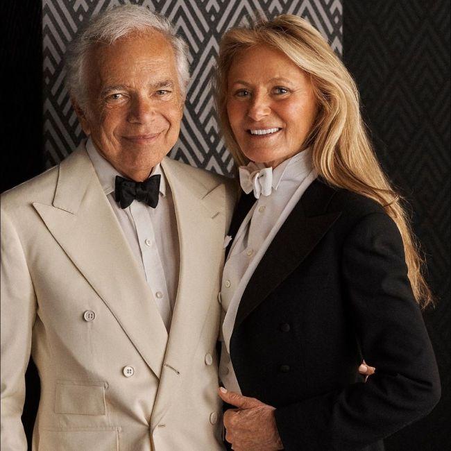 Ralph Lauren with his wife Ricky Lauren