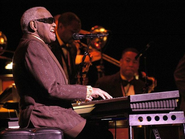 Ray Charles during a performance in July 2003