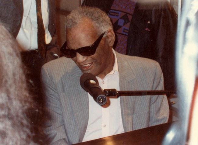 Ray Charles during an event in February 1990