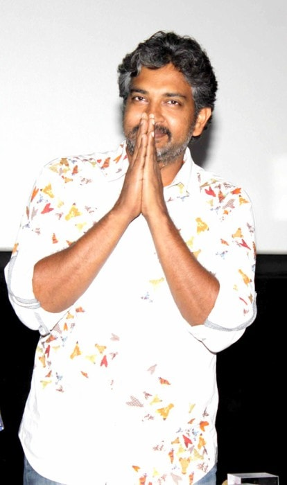 S. S. Rajamouli at the special screening of Makkhi