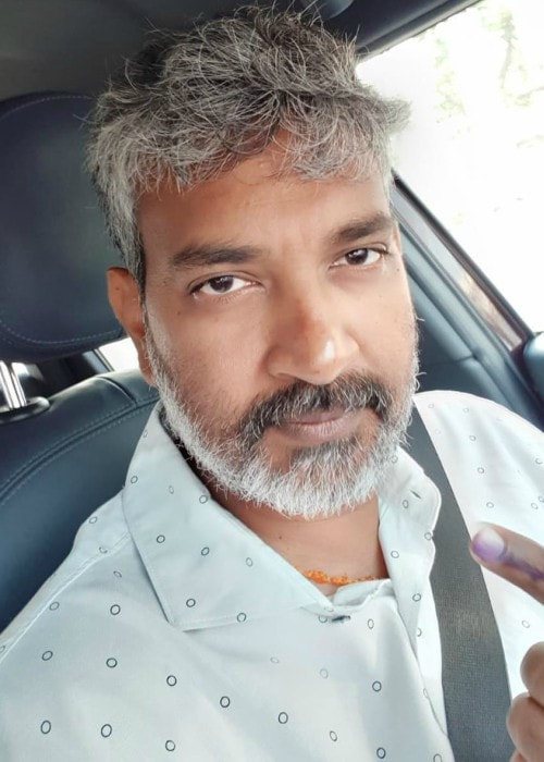 S. S. Rajamouli in an Instagram selfie as seen in December 2018