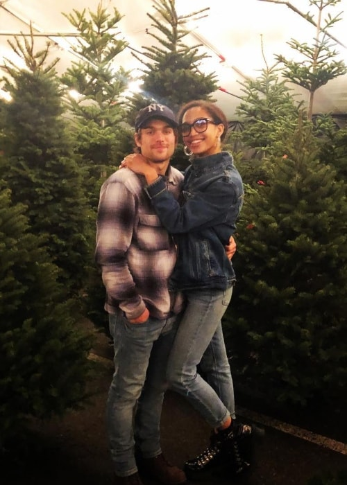 Samantha Logan as seen in a picture with her beau Dylan Sprayberry taken in December 2018