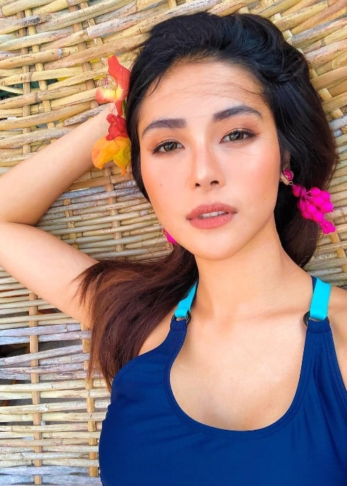 Sanya Lopez as seen while taking a selfie in Camiguin Island, Northern Mindanao, Philippines in February 2019
