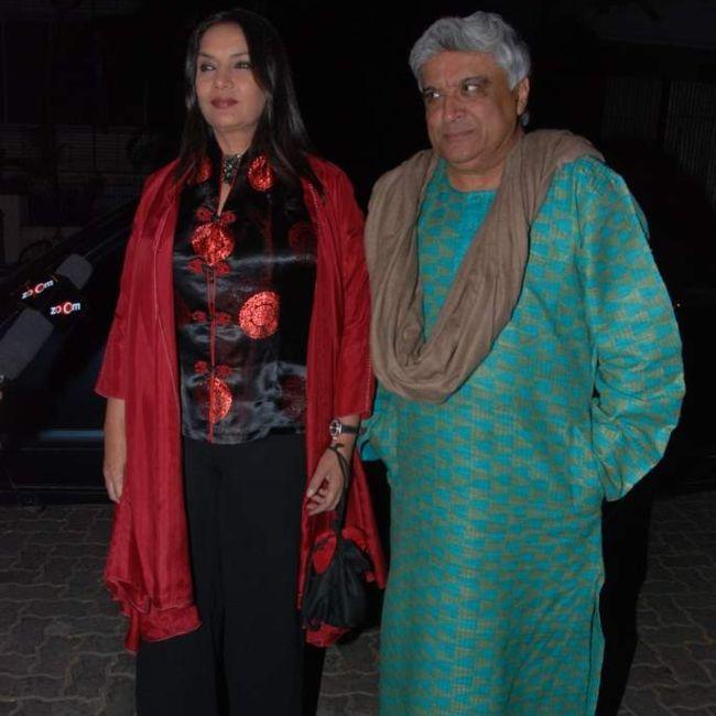 Shabana Azmi with husband Javed Akhtar in 2010