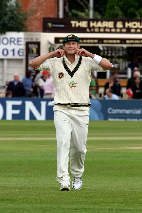 Shane Watson playing in a tour match against Northamptonshire during the 2009 Ashes series