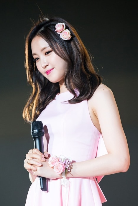 Son Na-eun as seen in a picture taken at Girls Awards Girls Collection in Osaka in November 2015