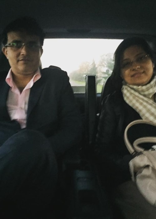 Sourav Ganguly as seen in a picture with his wife Dona Ganguly in February 2016
