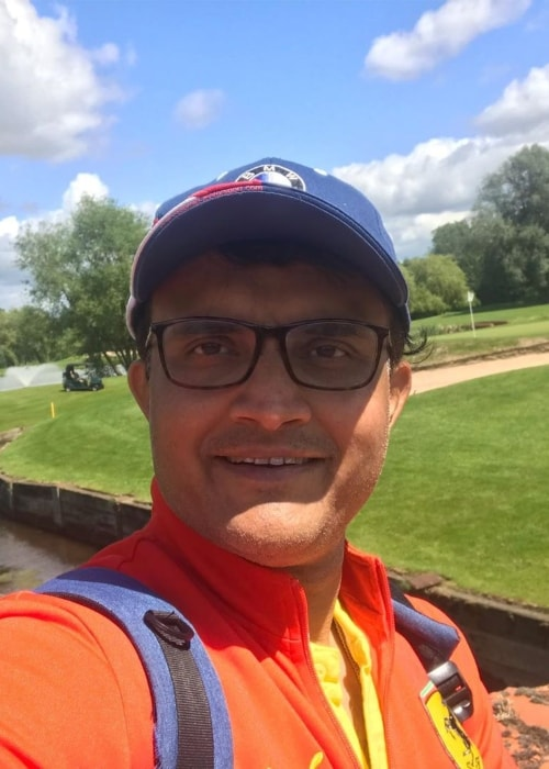 Sourav Ganguly as seen in a selfie taken in July 2019