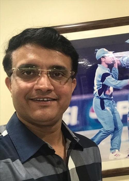 Sourav Ganguly as seen in a selfie taken in October 2019