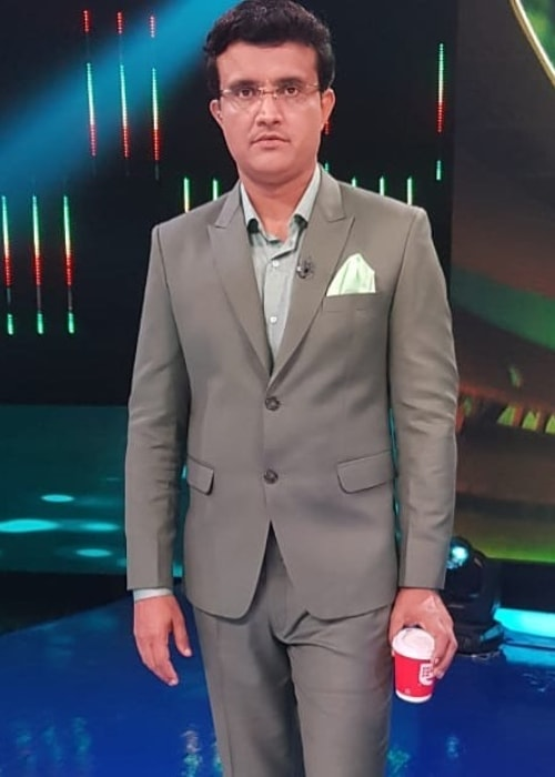 Sourav Ganguly as seen in picture taken on the set of Dadagiri Unlimited in August 2019