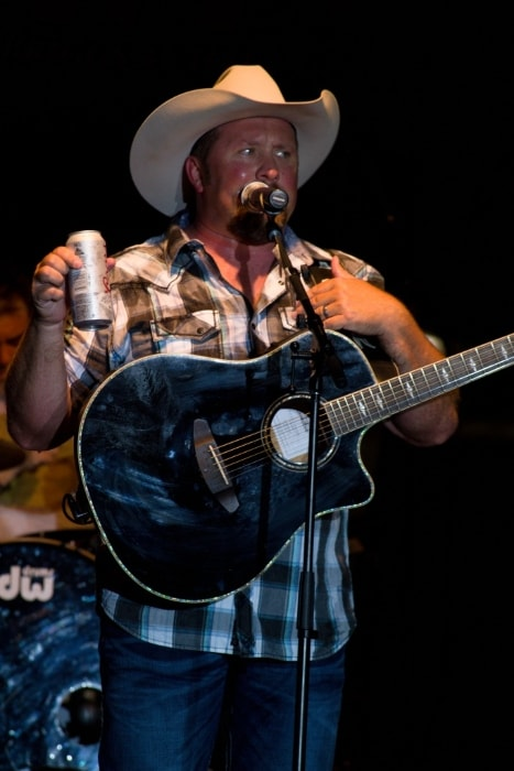 Tate Stevens as seen while performing during an event in July 2017