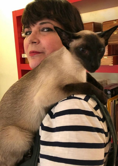 Terri Garber with her sister's cat as seen in June 2019