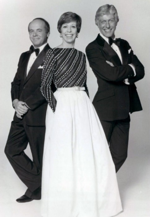 Tim Conway (Left) as seen while posing for a picture along with Carol Burnett and Dick Van Dyke, his fellow cast members on 'The Carol Burnett Show'