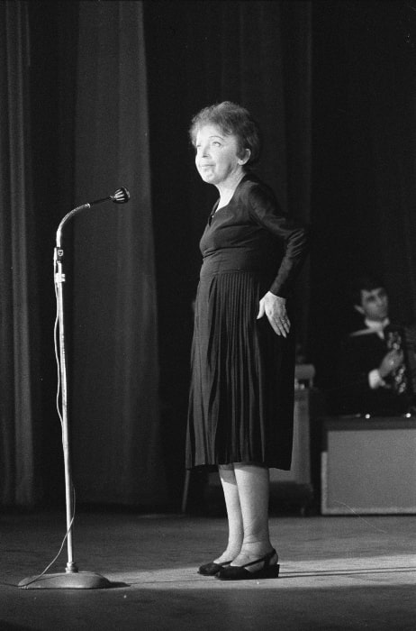 Édith Piaf as seen during an event in December 1962