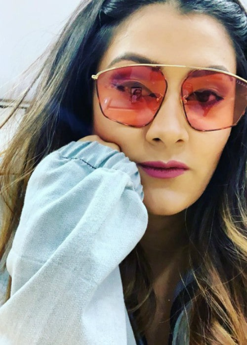 Aastha Gill in an Instagram selfie as seen in July 2019
