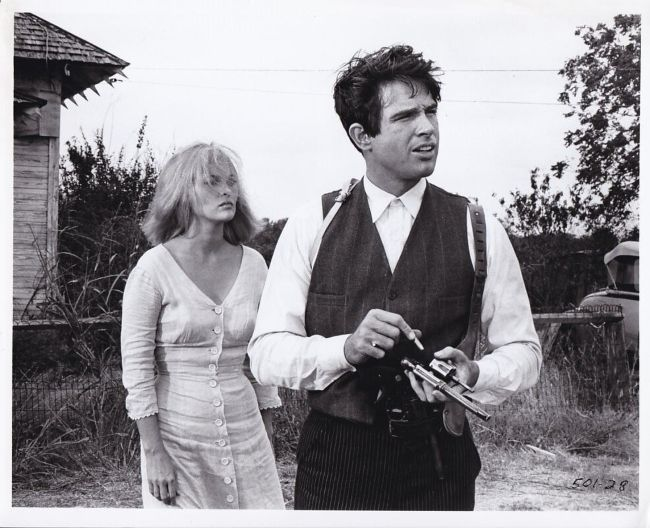 Actors Faye Dunaway and Warren Beatty starring in their 1967 film Bonnie and Clyde