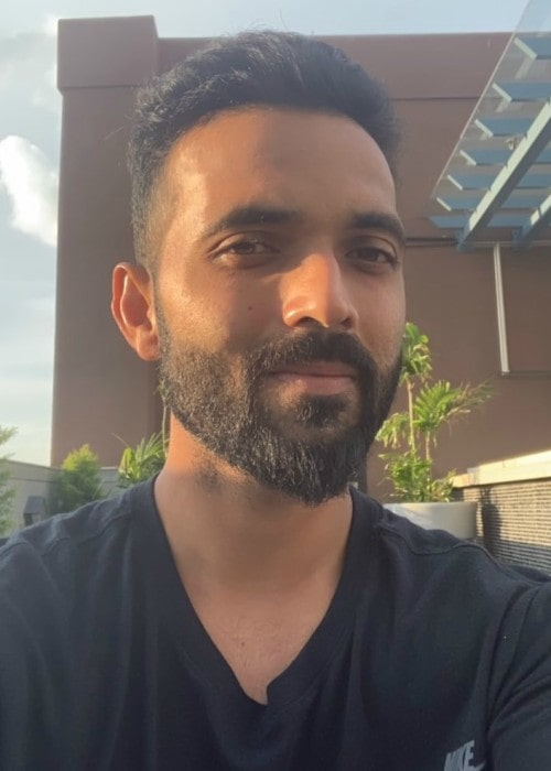 Ajinkya Rahane in an Instagram selfie as seen in September 2019