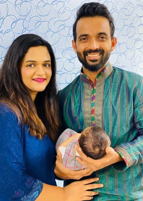 Ajinkya Rahane with his family as seen in October 2019