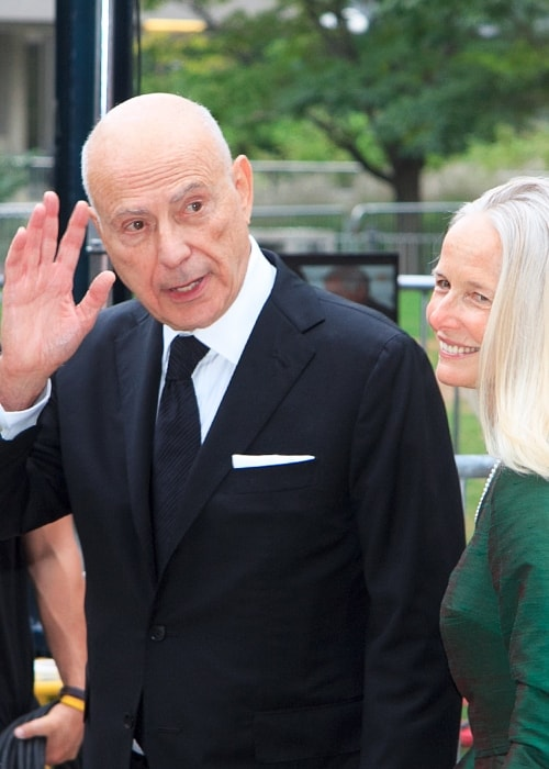 Alan Arkin as seen in a picture taken with his wife Suzanne Newlander at the Toronto International Film Festival on October 8, 2012
