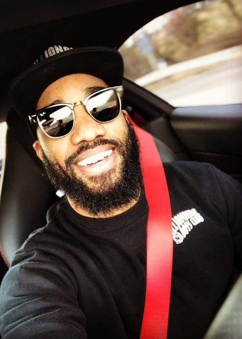 Alexandre Lacazette as seen while taking a car selfie in London, England, United Kingdom in March 2018