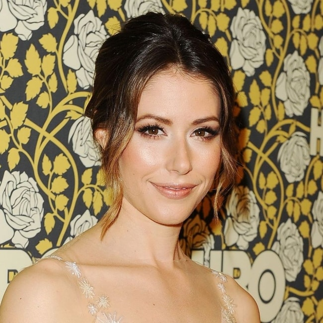 Amanda Crew as seen while smiling in a picture