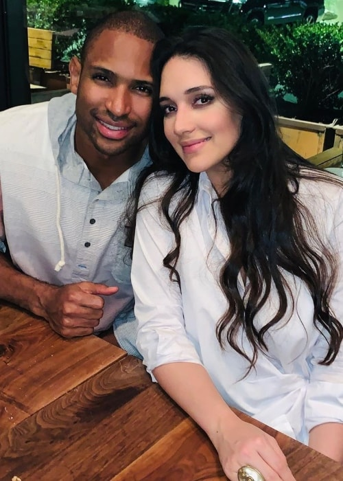 Amelia Vega as seen while posing for a picture alongside Al Horford in September 2019