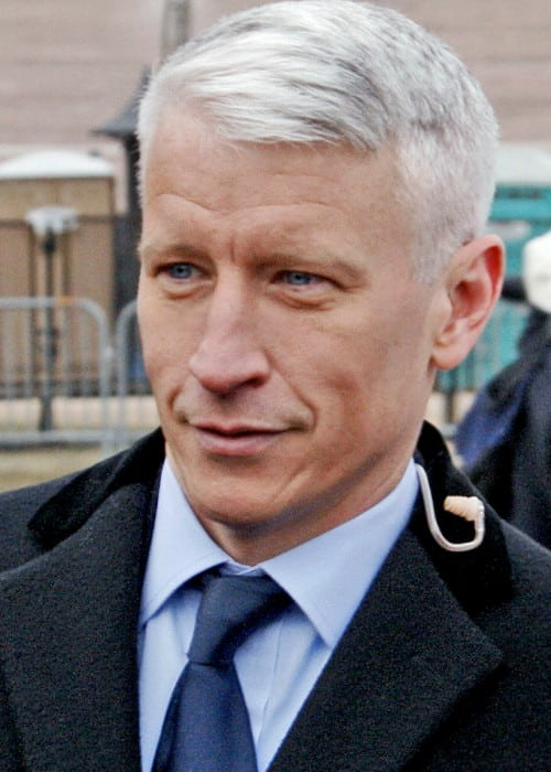 Anderson Cooper at the Obama Inauguration in Washington in January 2009