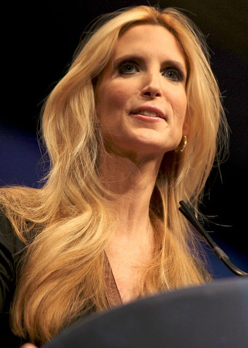 Ann Coulter speaking at CPAC in Washington D.C. in February 2012