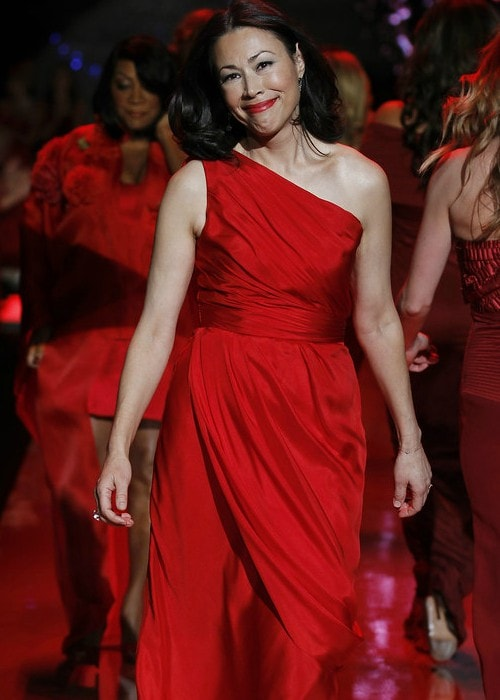 Ann Curry at the Heart Truth's Red Dress Collection Fashion Show in February 2011