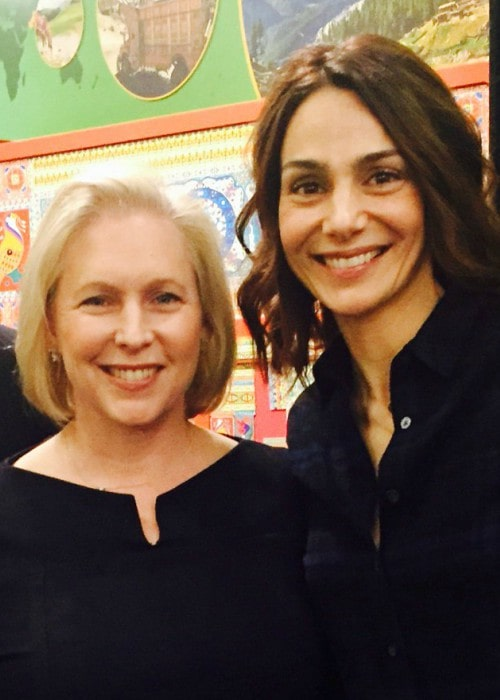 Annie Parisse (Right) and Kirsten Gillibrand as seen in April 2017