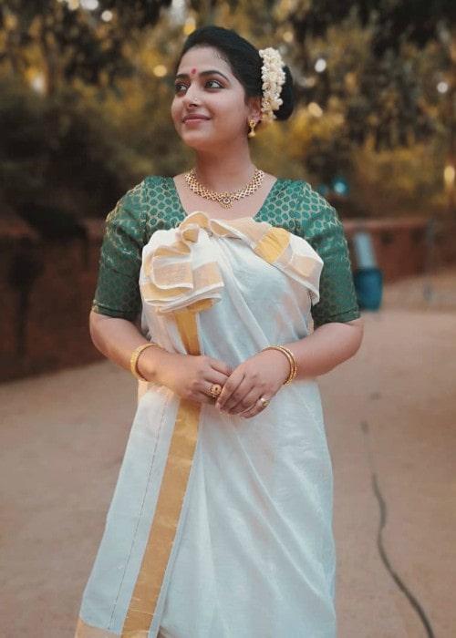 Anu Sithara as seen in November 2019