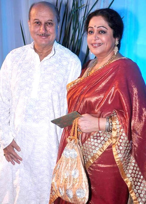 Anupam Kher and Kirron Kher as seen in July 2012