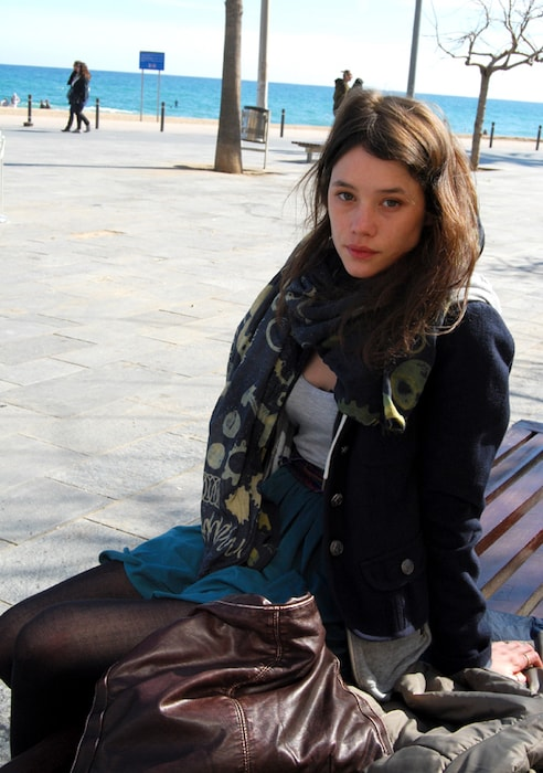 Astrid Bergés-Frisbey during the filming of 'The Sex of the Angels' in Barcelona in 2011