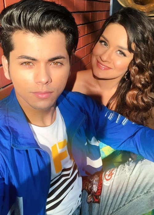 Avneet Kaur as seen in a selfie with her co-star Siddharth Nigam in November 2019