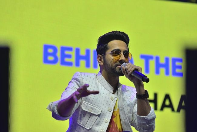 Ayushmann Khurrana seen during the annual content creation festival India Film Project in 2018