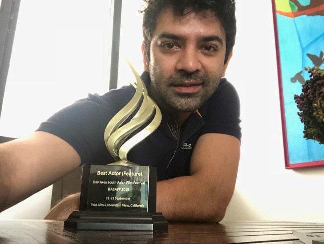 Barun Sobti in an Instagram selfie as seen in August 2019