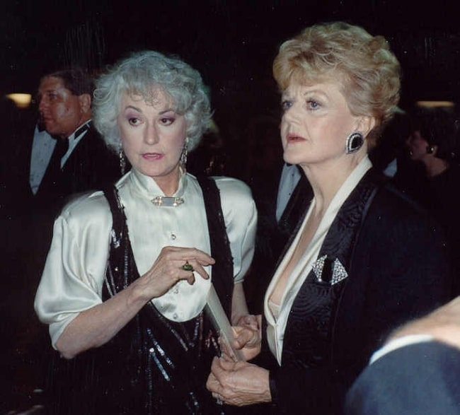 Bea Arthur (Left) as seen in a picture alongside Angela Lansbury at the 41st Emmy Awards