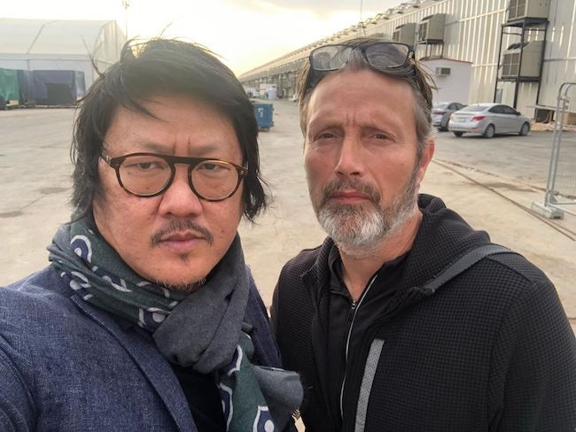 Benedict Wong with actor Mads Mikkelsen in a selfie in November 2019