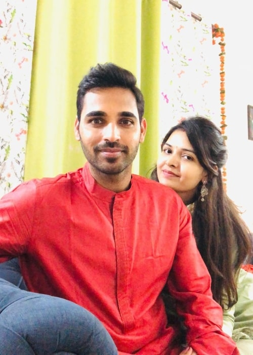 Bhuvneshwar Kumar as seen in a picture with his wife Nupur Nagar that was taken in October 2019