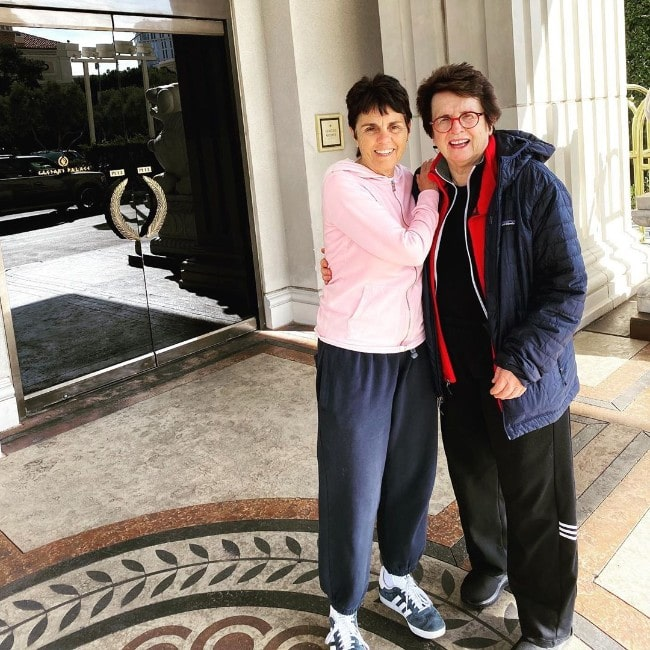 Billie Jean King with Ilana Kloss as seen in November 2019
