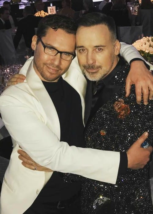 Bryan Singer (Left) and David Furnish as seen in February 2017