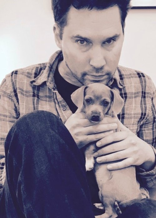Bryan Singer with his dog as seen in May 2017